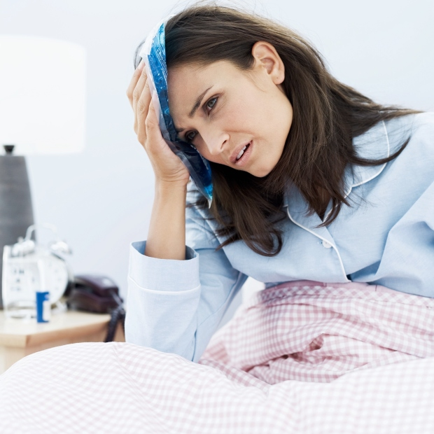 sick woman needs telemedicine